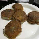 源烹輪 - 海老とニラの焼き饅頭