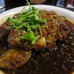 源烹輪 - 鶏もも肉のパリパリ揚げ 香味酢醤油ソース