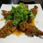 源烹輪 - 大海老の胡麻揚げ トマトソース