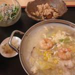 20438546 - 夏の平日ランチ:冷やし海鮮雑炊(840円)