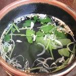 遊山亭 - ランチスープ