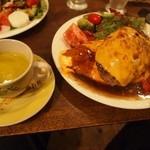 洋食ラフラフ - オムライスハンバーグ