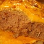 洋食ラフラフ - めっちゃ肉厚なハンバーグ