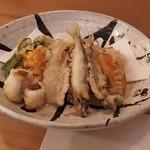Fujino - ある日の天ぷら盛り合わせ