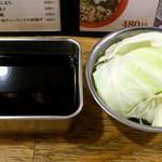 20449925 - 串カツ田中 西葛西店 2度付け禁止のソースとお替り自由のキャベツ お通しで250円
