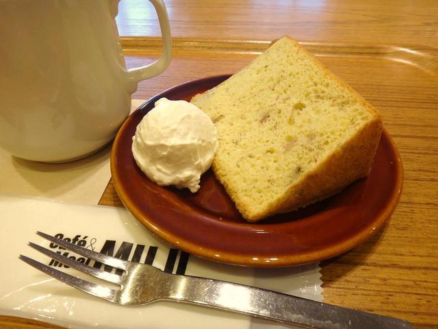 Cafe MUJI アトレヴィ巣鴨店 - バナナシフォンケーキ♪しっとりフワフワ~♡