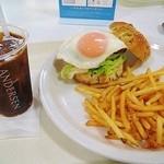 小谷サービスエリア(上り線)スナックコーナー・フードコーナー - 広島菜バンズの和牛バーガーセット
