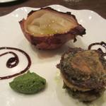 チッタ アルタ - 牛ほほ肉とジャガイモのミルフィーユ 3時間オーブンで焼いた玉ねぎ