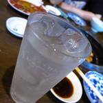 鬼の家 - 有糖レモンサワー430円