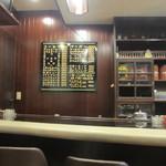 ブルックリン - お店はカウンターとテーブル席、店内にもどこか懐かしい雰囲気が漂ってます