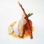リストランテ ウミリア - 季節のおまかせコースより  長崎産イサキのインヴォルティーニ フレッシュマンゴーのソース