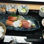 酒菜 ねむ太郎 - 201308 ねむ太郎 刺身定食(1000円)