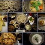 夢創庵 - 十割り蕎麦、筑前煮、天ぷら、蕎麦豆腐、かやくご飯、蕎麦プリン