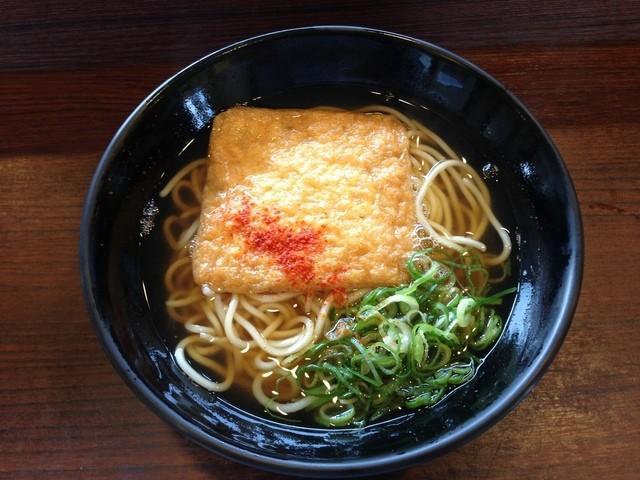 えきそば 姫路駅店 - H.25.08.04.昼 きつねえきそば 350円