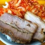ラーメンセンター本陣 - 豚キム丼(自作)_2013年8月