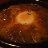 ロスファローレス - 卵とニンニク、イベリコ豚のスープ