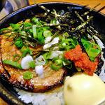 麺屋 一本気 - 「ちゃーしゅう丼」には唐辛子味噌を添えて(2013年8月)