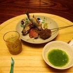 美濃吉本店 竹茂楼 - アユと牛肉の焼き物