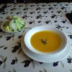 しやんぴによん - スープとサラダ