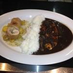 Shefuzutaburuaruandodhi - 今週のA&CのWプレート             鳥肉と大葉の風味がイイ。             鳥肉の食感が何とも言えない✨