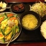 上海亭 - 日替わりランチゴーヤと玉子炒め