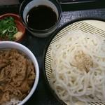 なか卯 - 牛丼ざる得セット500円