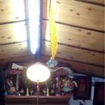 田中家 - 天井から蝿取り紙