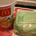 マクドナルド - 「サラダマリネマフイン」と「爽健美茶」