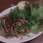 タイ料理 ブアールアン - ・イサーン風ひき肉スパイシーサラダ(ブタ) 950円