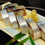 20495728 - 名物のサバの一本寿司@1,000円