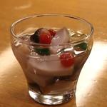 板前心 菊うら - 鮑 と サザエ と ツブ貝 の塩水漬け (2013/08)