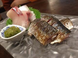 和彩厨房 KATURA - お造り(イワシは炙りでした)