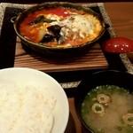 にほんばし 小湘亭 - 湘南みやじ豚のトマト煮込みハンバーグ1,200円