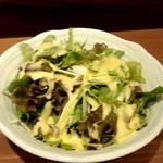 にほんばし 小湘亭 - ランチセットのサラダはしっかりしていて美味しい