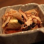 鉄板焼さくら - お通し (水茄子のお浸し) (2013/08)