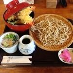 源五郎 - 天丼とそば1380円