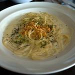 20504294 - 「ゴルゴンゾーラの軽いクリームスパゲティー」。かなり濃厚なチーズ風味。