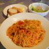 ゴンジ - 料理写真:パスタランチ・わたりがにと野菜(わたりがにの自家製ソースをからめたパスタ)