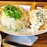 黒川食堂 - チキン南蛮甘酢自家製タルタルソース添え 定食で930円