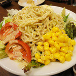 鳥彦 - 宴会飲み放題付(3000円)ラーメンサラダ