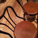 J.S. PANCAKE CAFE  - 椅子にもJSパンケーキカフェの刻印が