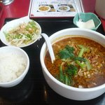 20511309 - 四川坦々麺 800円 ライス、杏仁豆腐付き