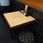 天満酒蔵 - 二人掛けのテーブル席