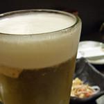 本格炭火焼鳥 ちどり - 生ビール