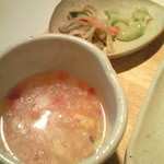 Saiyuuki - セットスープと小鉢