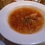 霜降りハンバーグとステーキの店 鉄重 - セットのスープ