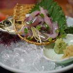 海鮮の國 - 料理写真:鯵のたたき~☆