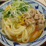 丸亀製麺 - 牛しゃぶぶっかけ ごまラーぶっかけ(大)580円