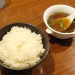 筋斗雲 - ライス、スープ