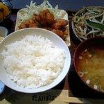 たんぽぽ食堂 - ランチ 唐揚げとレバニラ
